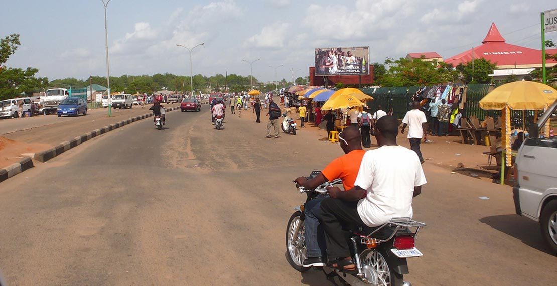 Busy road in Nigeria