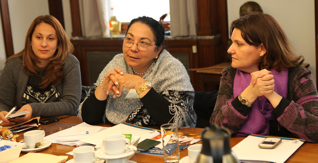 a picture of Dr. Marcia Cobas Ruiz with 2 other women