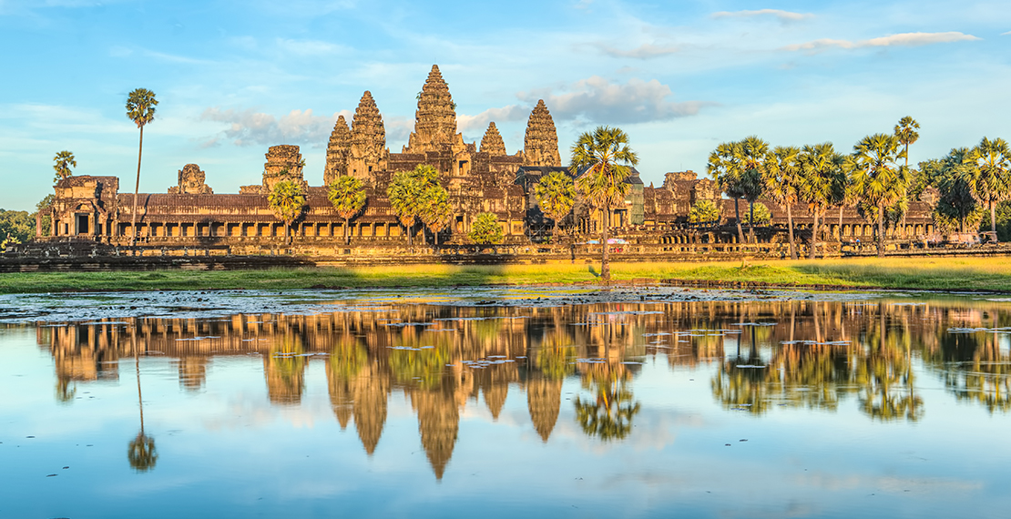 Ankor Wat temple complex in Cambodia