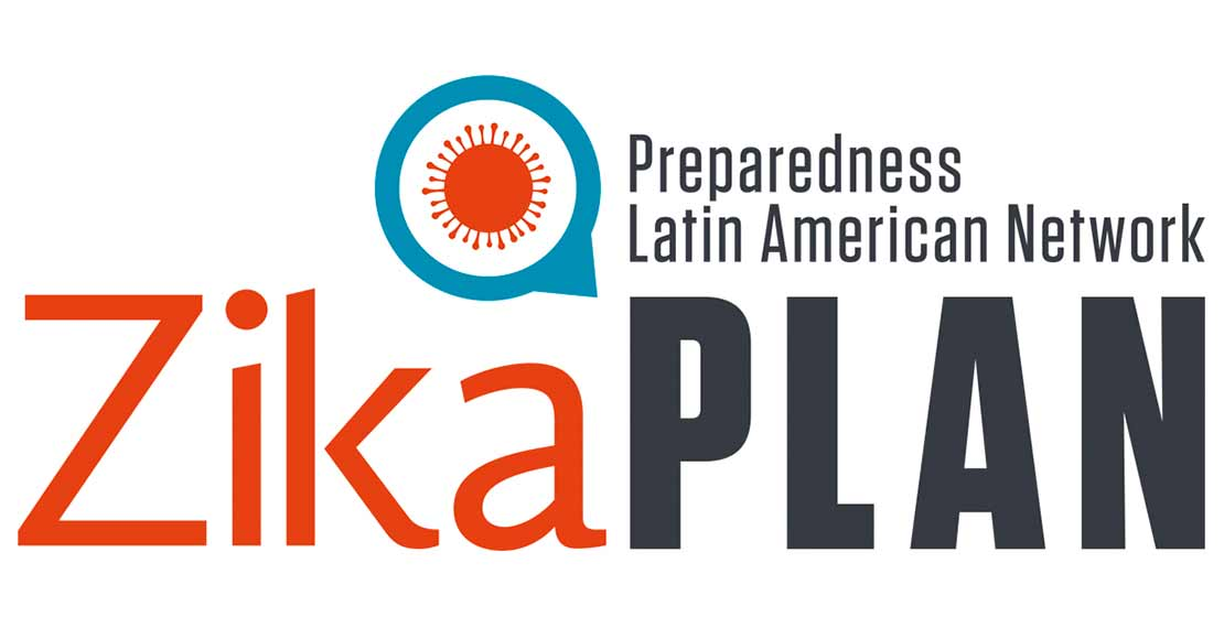 the logo of zika plan ( Preparedness Latin American Network) is shown