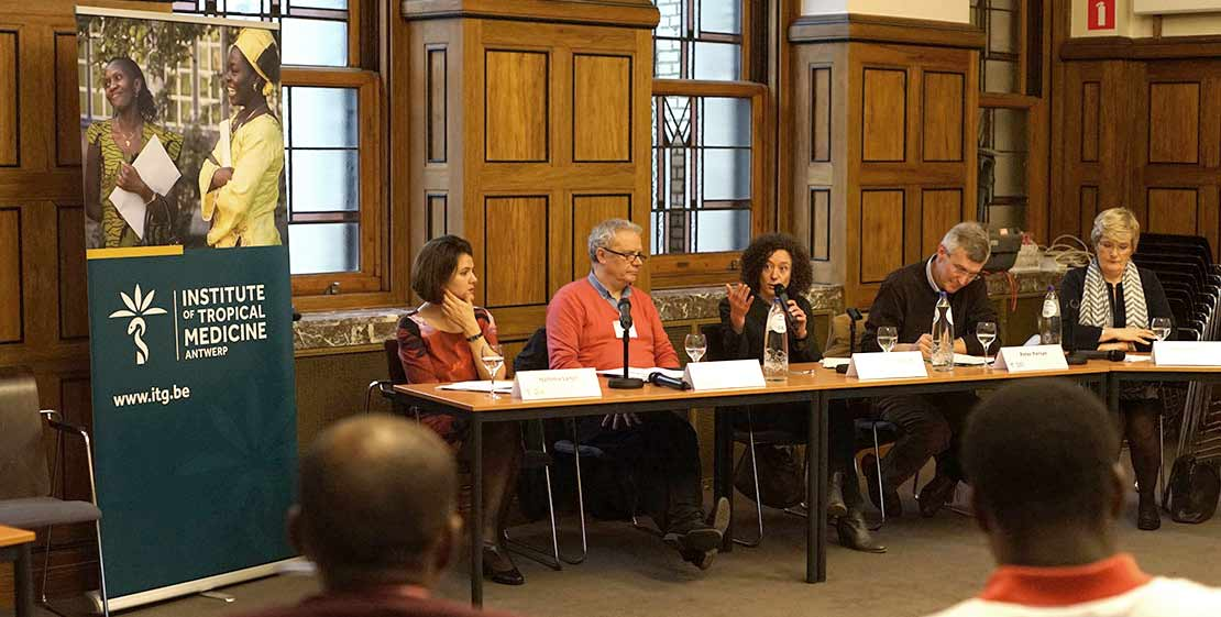 The panel, Yasmine Kherbache speaking.