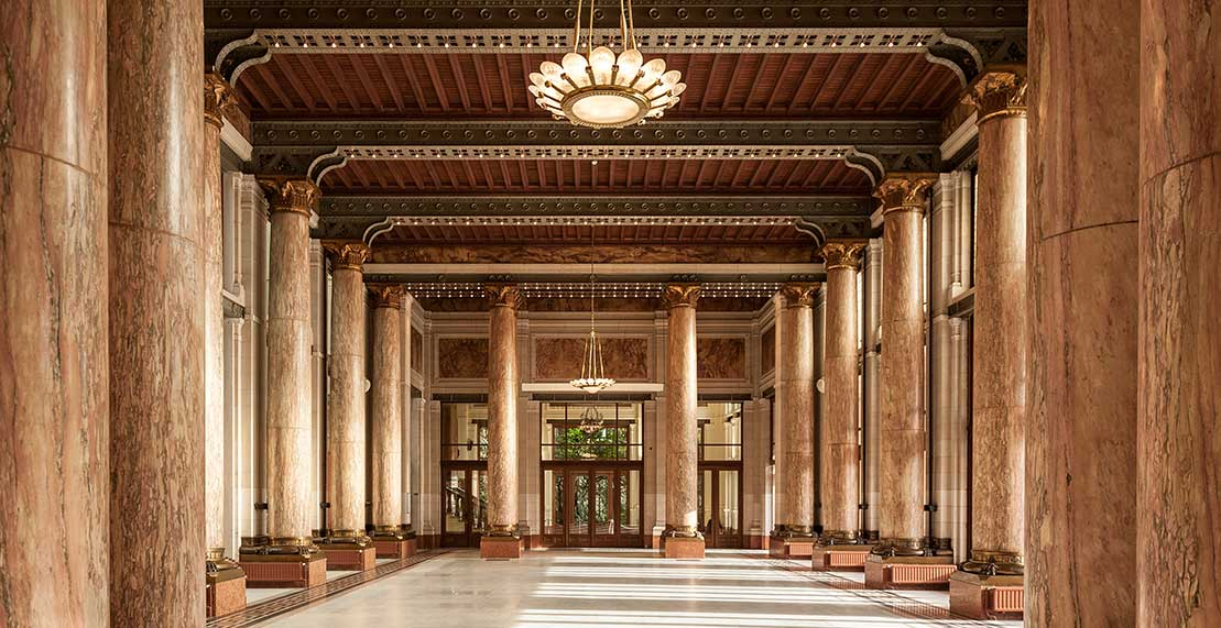 Marble Hall in the Flanders Meeting & Convention Center