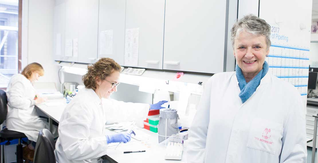 Katrien Fransen and her colleagues at the HIV Reference Laboratory