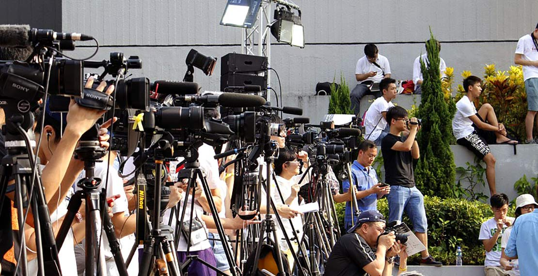 Journalists with cameras