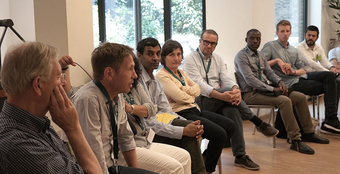 Ermias Diro (fourth from left) and other participants during the workshop
