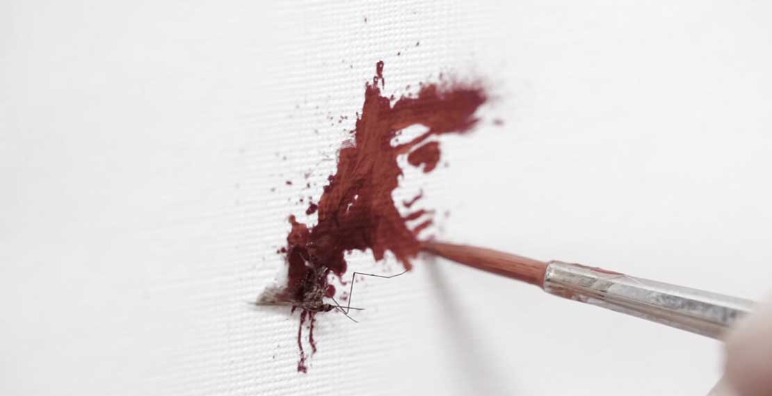 Photograph from 'Blood portraits' series by Konstantin Tokarev © 2015