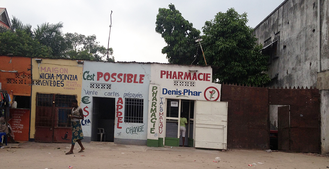 Pharmacies in a low-income country