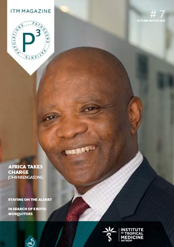 cover of the magazine with a picture of John Nkengasong